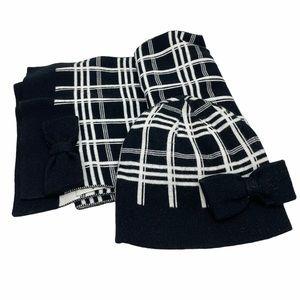 Kate Spade Checkered Beanie & Scarf Set